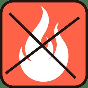 Материал не поддерживает горение